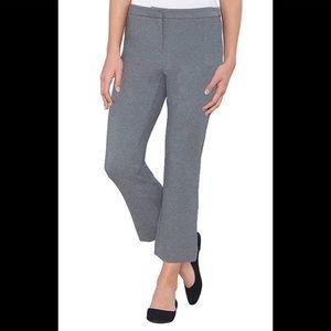 NWT Max & Mia Capri Dress Pull On Pants. Grey. M
